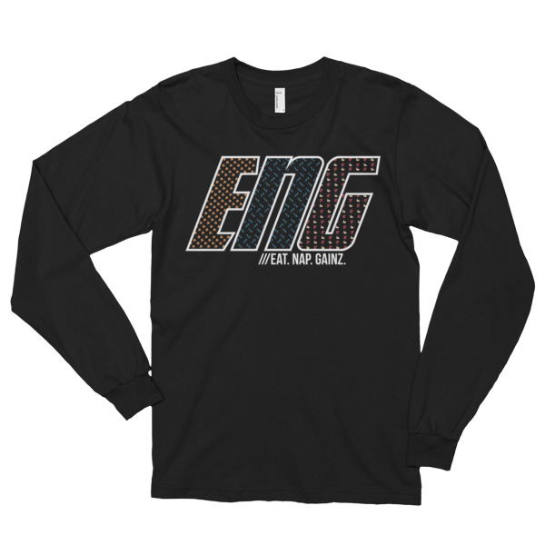 Eat. Nap. Gainz. Long sleeve t-shirt (unisex)