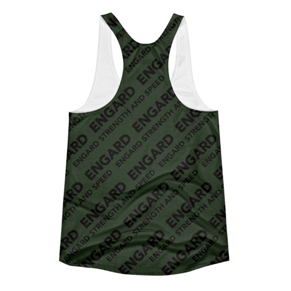 Army Green Women's racerback tank