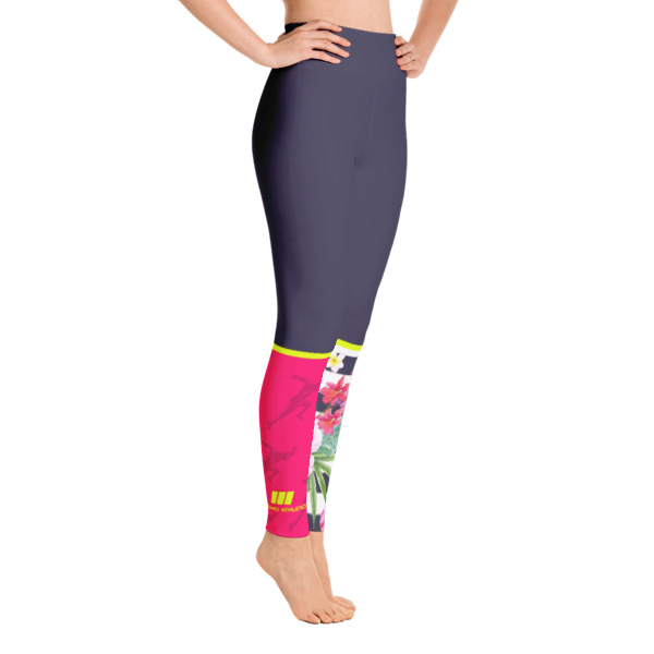 Tropical Stripe Yoga Leggings