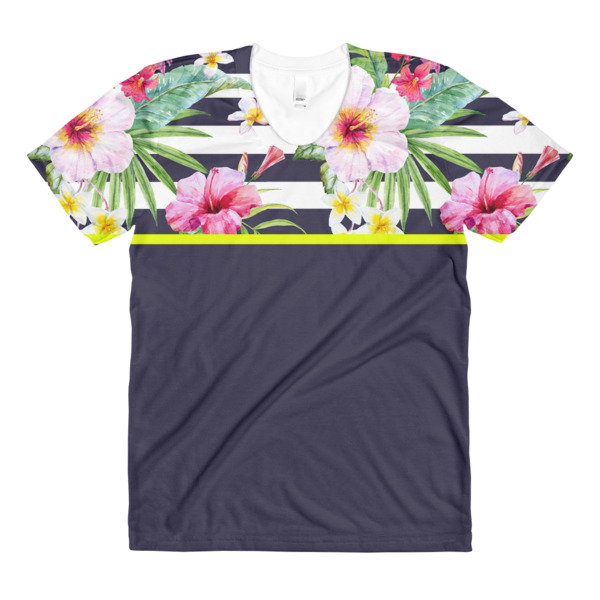 Tropical Stripe Women's Tee