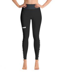 Shark Week Yoga Leggings in Black
