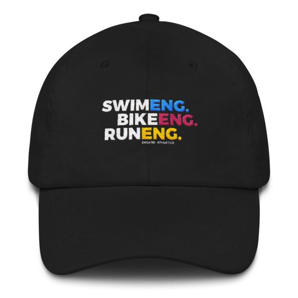 Swim Bike Run Dad Hat